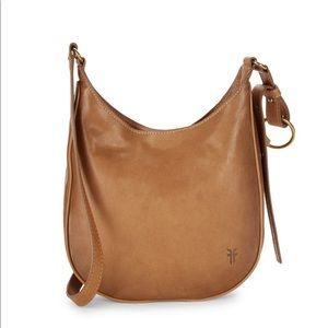 New Frye Madison Tan Leather Crossbody Bag $298